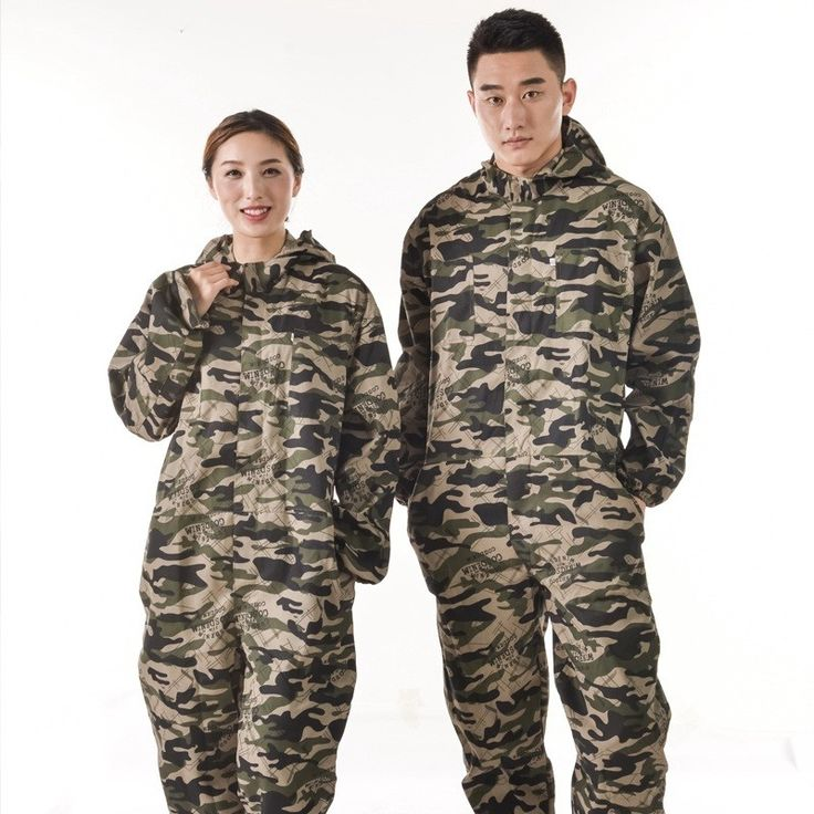 New Work Coveralls Camo Hooded Workwear Mechanic Jumpsuits Protective Clothing