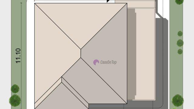 Caracteristici speciale   Este o locuinta ce se poate construi singura pe lot, cuplata (in oglinda), sau la limita de proprietate;  Garaj;  Camera de zi se deschide spre o terasa acoperita, un spatiu perfect pentru locul de luat masa in aer liber;  Toate spatiile locuintei sunt functionale si utilizate la maxim: spatii de depozitare sub scara si pe holuri, precum si realizarea unei terase circulabile deasupra garajului.