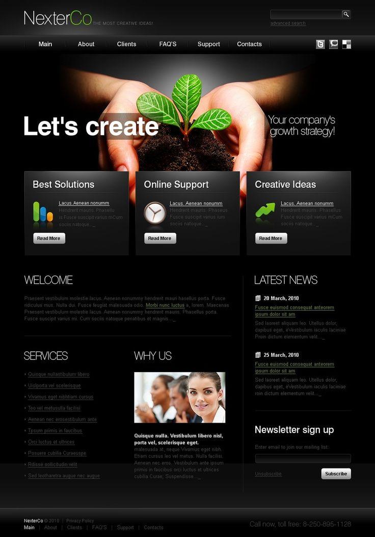 Создание шаблон сайта psd создание многостраничного сайта