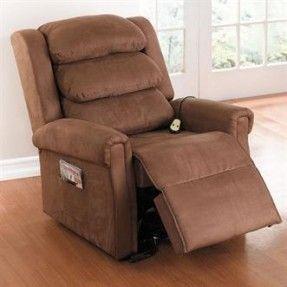 Oversized reclining lift chair