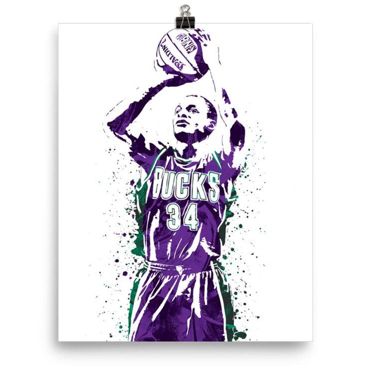 Ray Allen Milwaukee Bucks Poster