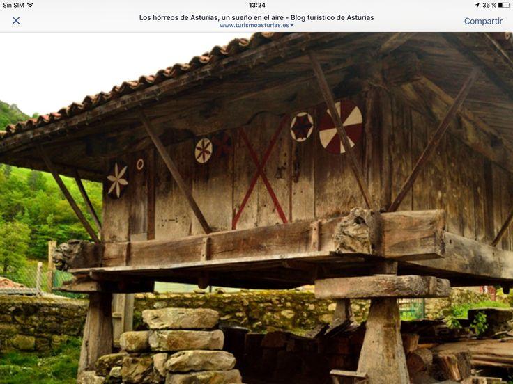 Hórreos típico de Asturias. Norte de España