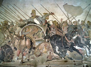 The Persian king Darius III, detail of PHILOXENOS OF ERETRIA, Battle of Issus (FIG. 5-70)