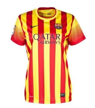 Barcelone Femme Maillot Football Exterieur 2013/2014 Nike Collection