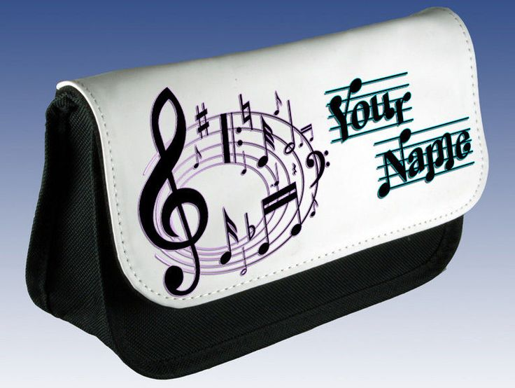 Elevenfy | MUSIC MUSICAL NOTES PERSONALISED PENCIL CASE  -  DS HOLDER  -  MAKE UP BAG  - FAB GIFT