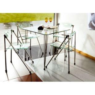 Combo Mesa de vidrio + 4 sillas - Sodimac.com