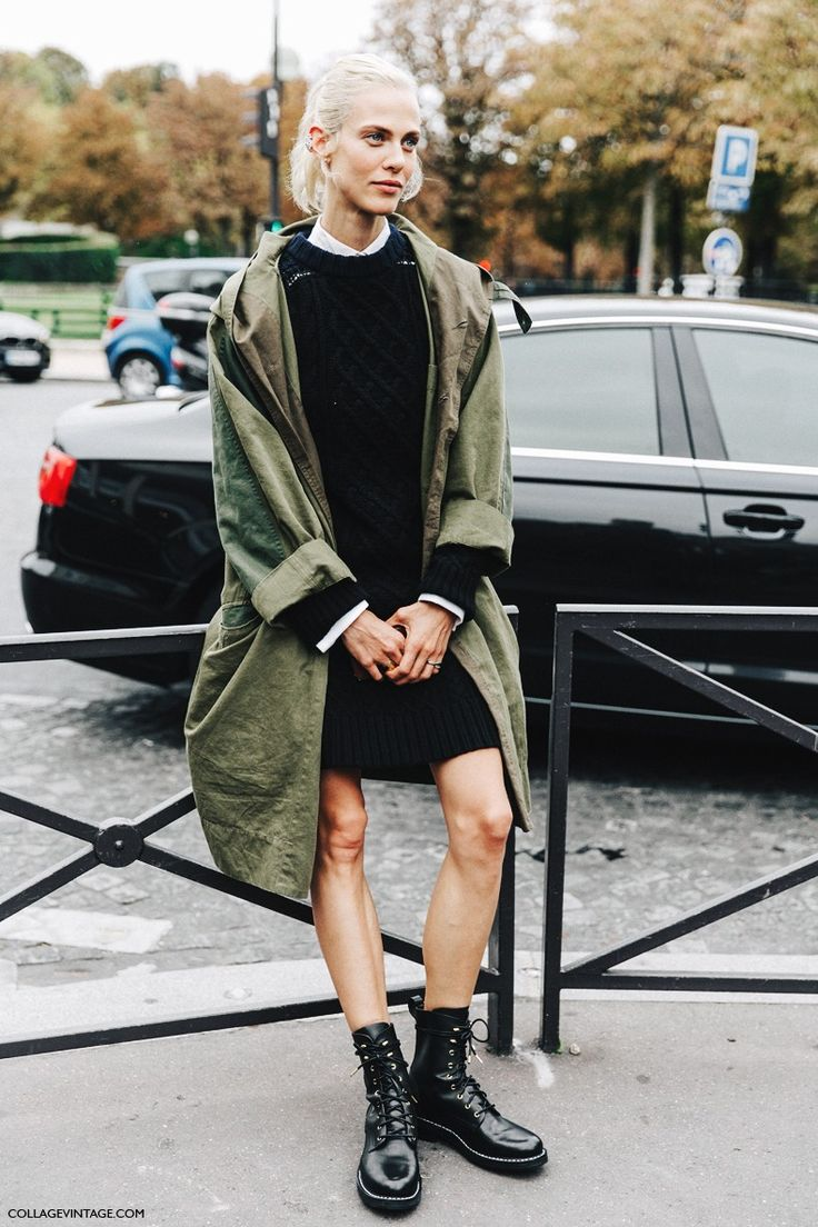 PFW-Paris_Fashion_Week-Spring_Summer_2016-Street_Style-Say_Cheese-Model-Knit_Dress-Trench_Coat-1