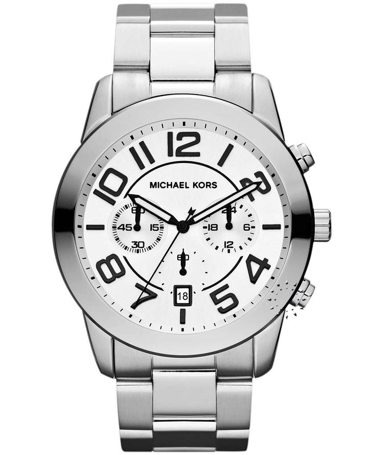 MICHAEL KORS Mercer Chronograph Stainless Steel Bracelet Μοντέλο: MK8290 Τιμή: 267€ http://www.oroloi.gr/product_info.php?products_id=32589