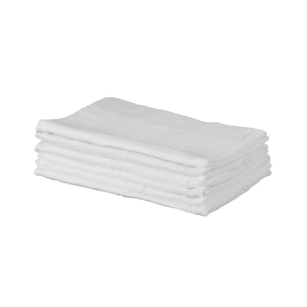 Cuddles Collection 6pk white cotton muslin squares