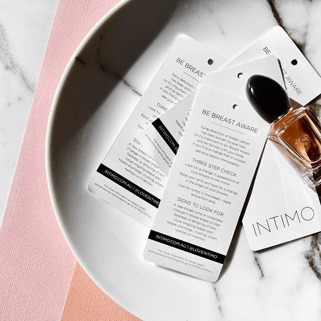 Did you know every Intimo bra comes with a special breast check swing tag? Why not place it on your mirror or bedside table as a reminder to #bebreastaware all year round! #loveintimo