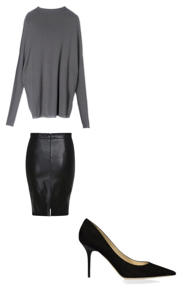 """""""Untitled #114"""" by omaimet on Polyvore featuring Rick Owens and Jimmy Choo"""