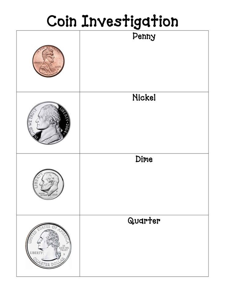 blank sheet for observations on each coin, and a sheet for coin rubbings--free downloads!