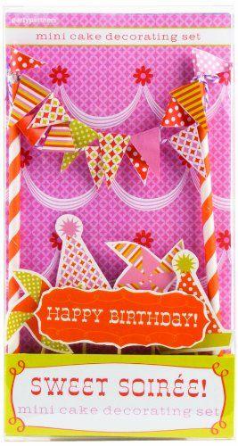 Party Partners Design Mini Cake Decor Kit, Sweet Soiree Party Partners Design http://www.amazon.com/dp/B00HZHU75O/ref=cm_sw_r_pi_dp_H1HUtb1ZFQJSJZCQ