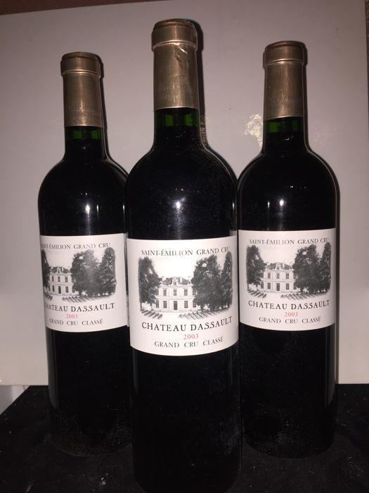 2003 chateau Dassault Saint-Emilion Grand Cru Classé - 3 flessen 75cl.  veel 3 flessen 2003 chateau dassault saint-emilion grand cru classé89/100 parker  EUR 5.00  Meer informatie