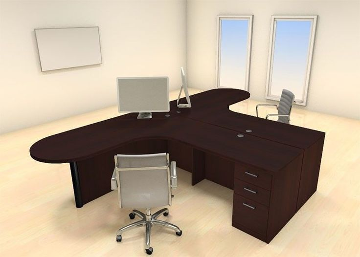 Two Persons Modern Executive Office Workstation Desk Set, #CH AMB F2 | Desks,  Modern And Office Spaces