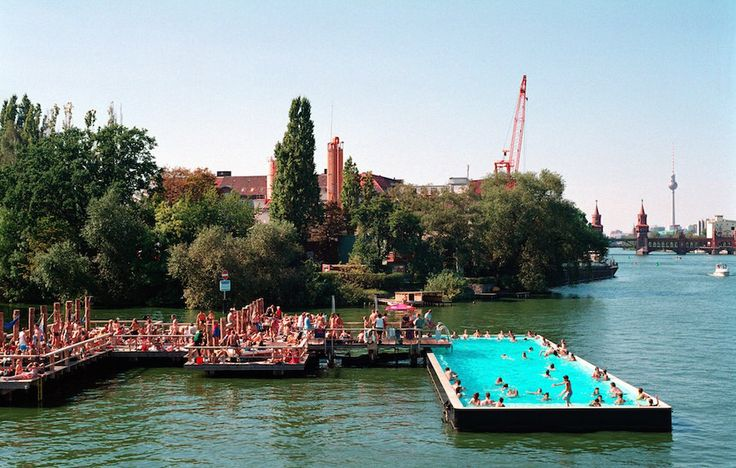 50 Things You Must Do When Visiting Berlin: cargo container pool in the river