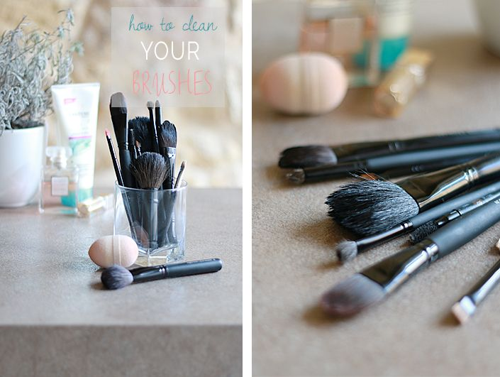 Clean your makeup brushes with coconut oil and dish soap ! Quick, easy and efficient.