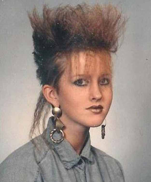 This photo is giving me some serious Jane Child vibes: | 25 Photos Of '80s Hairstyles So Bad They're Actually Good