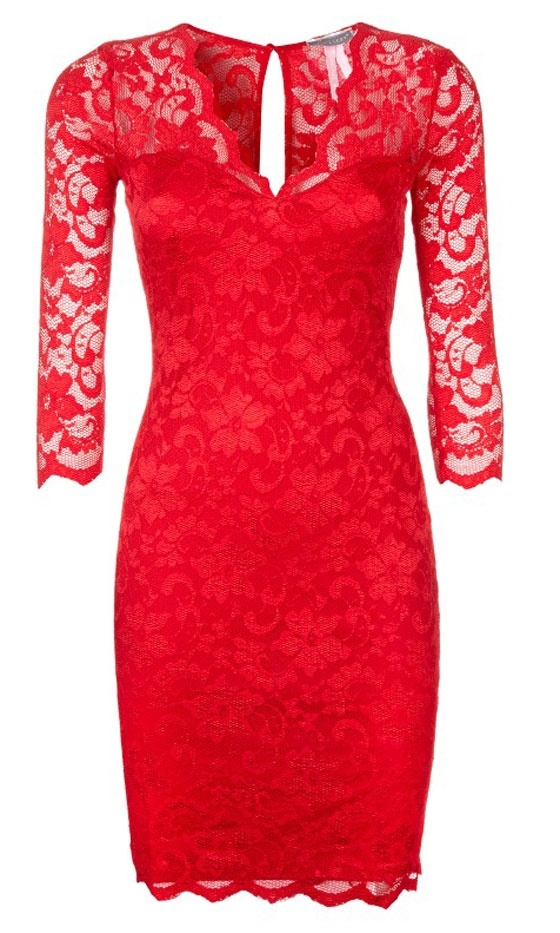 Red Lace Dress. Love it!
