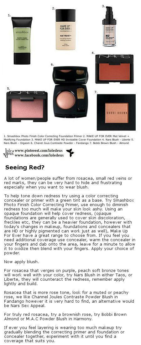 Great tip on how to camouflage rosacea. #loledeux