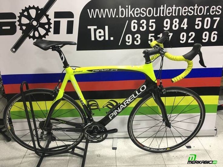 #pinarellorazhaultegra Bicicleta de carretera carbono pinarello razha ultegra talla ... en toda España