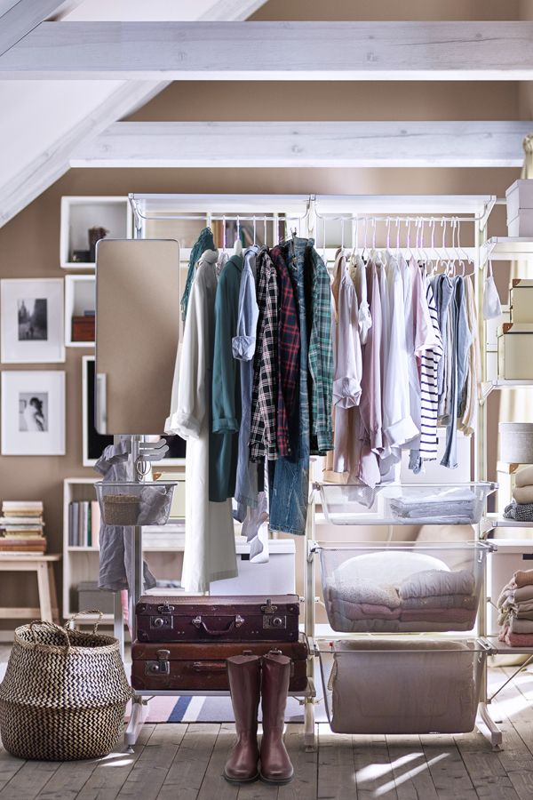Your closet should fit your clothes - not the other way around! Make more room in your closet for the things that you love with tips & IKEA ideas in Your Stress-Free Organization Guide.