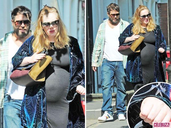 Adele News - Pregnant Adele Shows Off Huge Baby Bump With Boyfriend Simon Konecki in London (PHOTOS) - Celebuzz