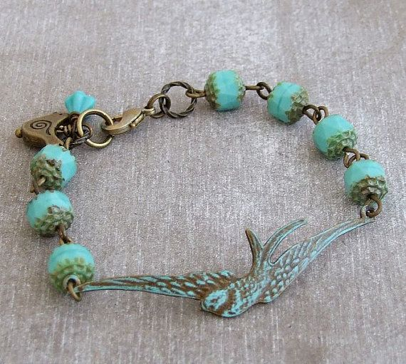 Hey, I found this really awesome Etsy listing at https://www.etsy.com/listing/93766223/turquoise-swallow-bracelet-blue-bracelet