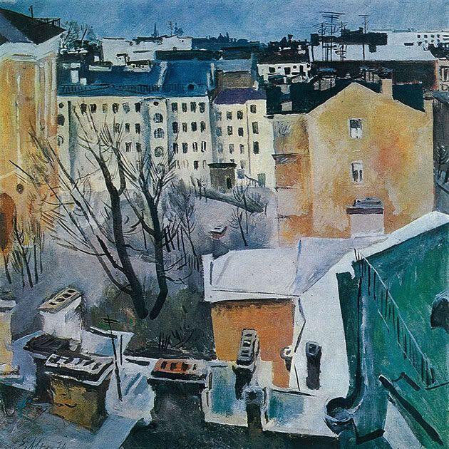 Евсей Моисеенко, Городской пейзаж. 1968