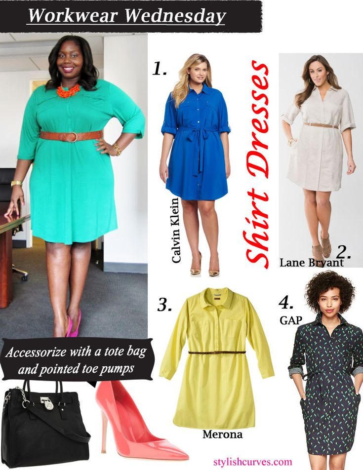 Plus size shirt dress for women