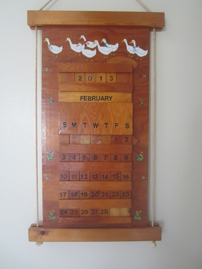 Wooden perpetual wall calendar search results calendar 2015 - Wooden perpetual wall calendar ...