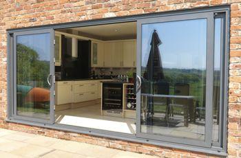 smarts systems visoglide aluminium four pane patio door