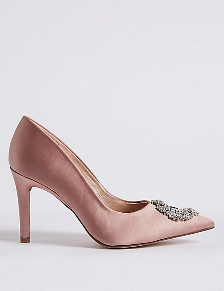 2bf8d01b360 Stiletto Heel Jewel Pointed Toe Court Shoes in 2019