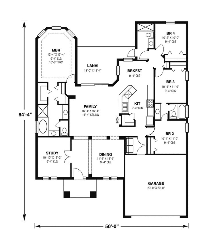 Homivo contemporary ranch style homes floor plans siesta key sunbelt ranch home plan 116d