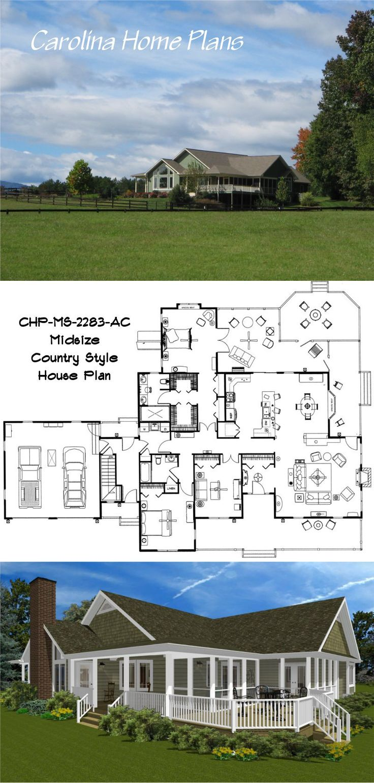1000 images about house plans with porches on pinterest North carolina house plans