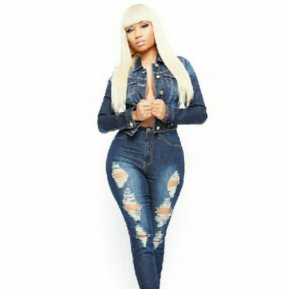 Nicki Minaj Collection high waisted jeans Channeling all the barbs out there!! These are brand-new Nicki Minaj high-waist jeans. They give you an amazing hourglass figure, sucks you in and all the right places. Nicki Minaj Collection Jeans Skinny