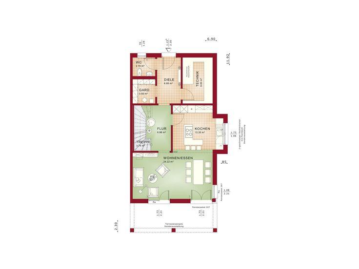 490 best Haus Grundriss images on Pinterest Cottage floor plans - grundriss küche mit kochinsel