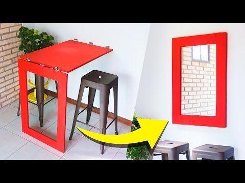 DIY - MESA & ESPELHO DOBRÁVEL - YouTube