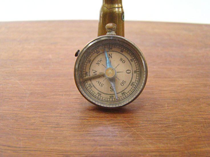 German Compass; War Memorabilia; Vintage Compass; Field Compass; Belt Compass; Militaria; WWI; WWII by PurpleMouseStories on Etsy