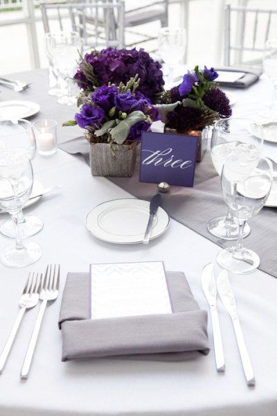 Best purple and gray silver wedding images on