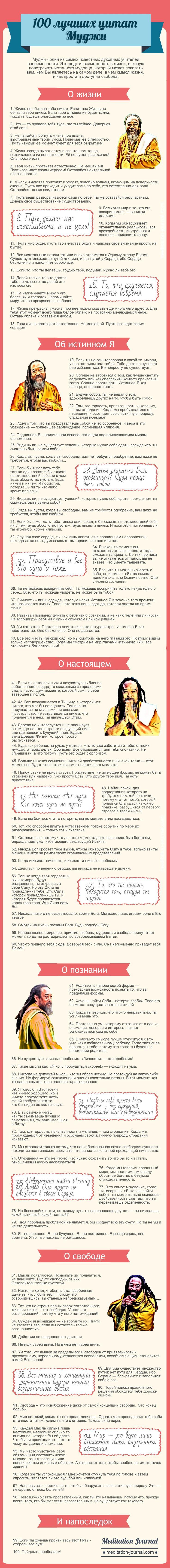 Цитаты Муджи на все случаи жизни. Сегодня Муджи - это один из самых известных учителей и духовных наставников для миллионов людей. Топ 100 лучших.