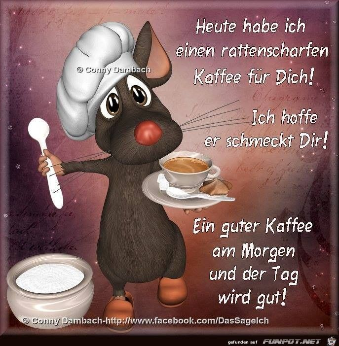 ein Bild für's Herz 'Einen rattenscharfen Kaffee.jpg' von Floh. Eine von 1014 Dateien in der Kategorie 'guten-Morgen-Bilder' auf FUNPOT.