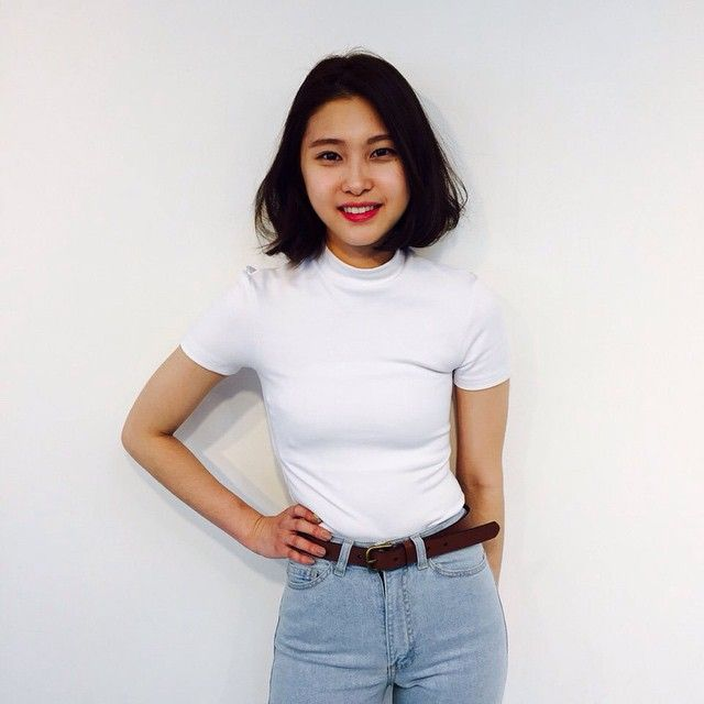 Yukyoung in the new Ponte Mock Neck Short Sleeve Top.