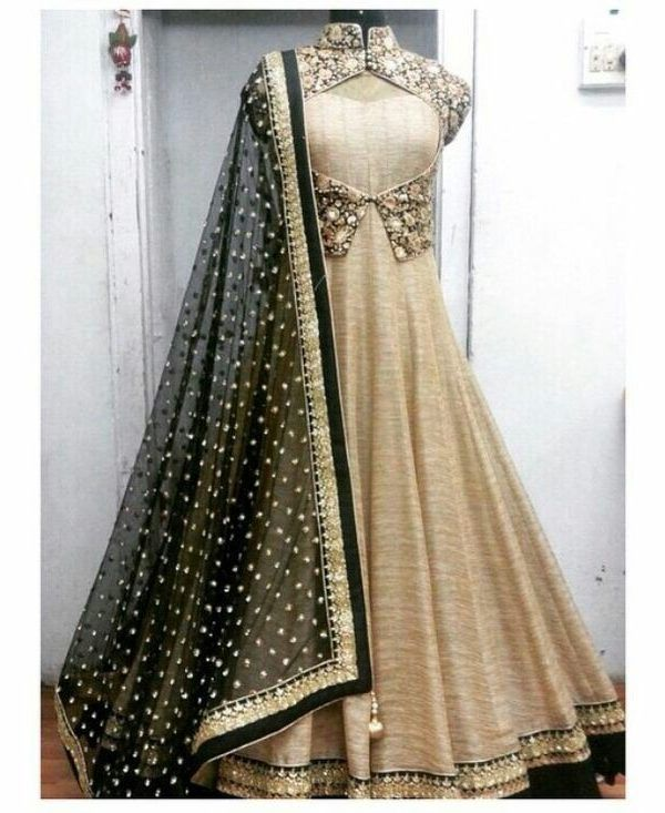 GRAY BLUE TRADITIONAL BANGLORI EMBROIDERED SEMI STITICHED SALWAR WITH DUPATTA