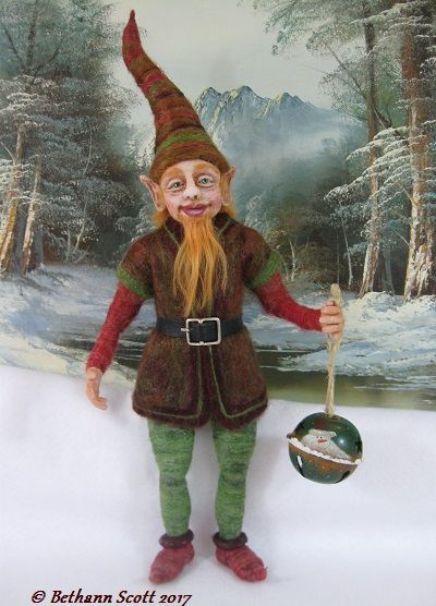 """The Christmas Gnome by  Bethann Scott """"The Stitch Fiddler"""""""