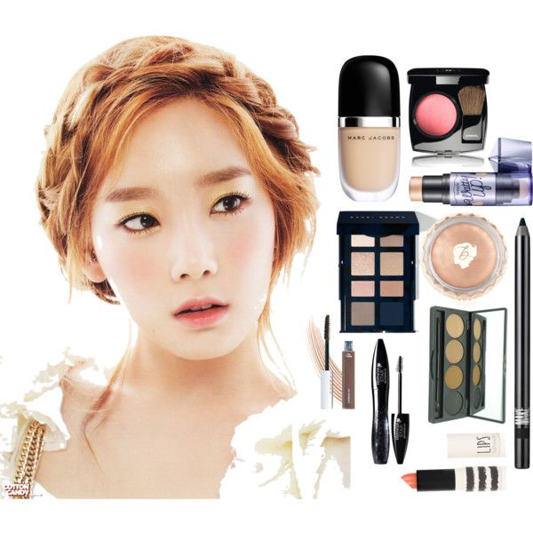 Girl's Generation Taeyeon Makeup Inspiration by syera-navada on Polyvore featuring beauty, Bobbi Brown Cosmetics, Marc Jacobs, Chanel, Benefit, Topshop, Make, Lancôme, NARS Cosmetics and Henri Bendel