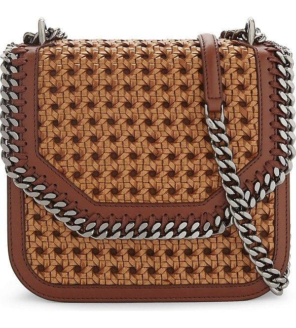 STELLA MCCARTNEY - Wicker faux-leather cross-body bag | Selfridges.com