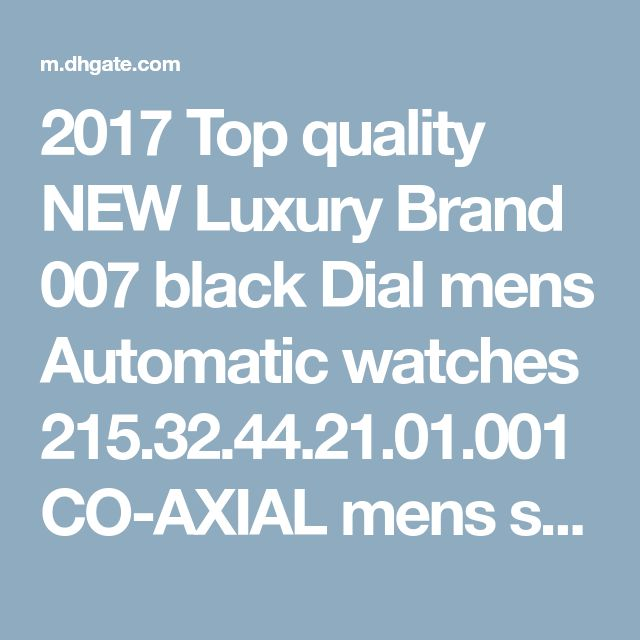 2017 Top quality NEW Luxury Brand 007 black Dial mens Automatic watches CO-AXIAL mens… - http://soheri.guugles.com/2018/02/23/2017-top-quality-new-luxury-brand-007-black-dial-mens-automatic-watches-co-axial-mens/