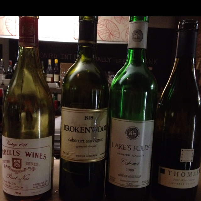 Some great hunter wines - lots of great finds here but brokenwood the stand out