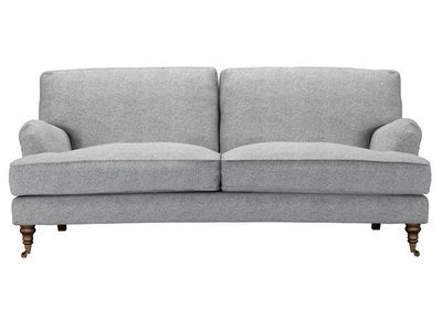 bluebell three seat sofa in ash soft wool…
